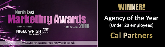 Winner North East Marketing Agency of the year 2018